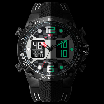 LED Digital Clock Waterproof Military Wrist Luminous Watch Mens Watches To Luxury Brand Men Leather Sports Watches Men's Quartz
