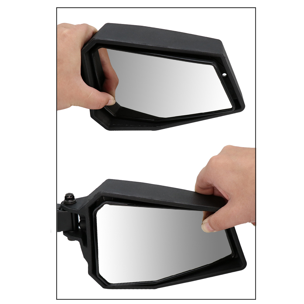 Image 5 - ZSDTRP 1.75 UTV Adjustable Side Mirrors Rear View Mirrors Wide  Mirror for Polairs RZR 1000 XP 900 XP1000 Turbo 2008 2019Side Mirrors