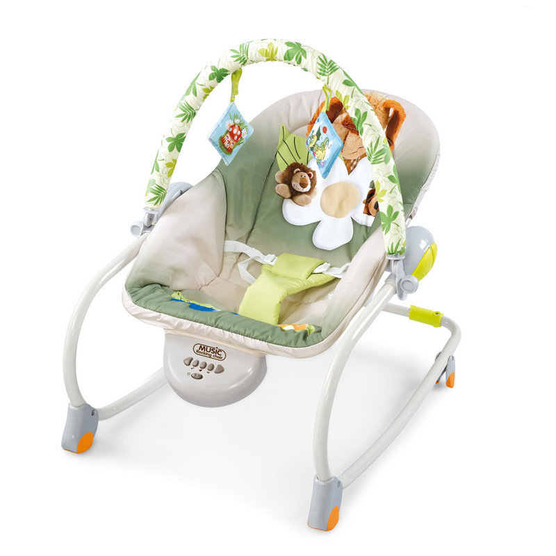 Newborn Multifunctional foldable Electric baby rocking chair with toy music soothing and comfortable shaking baby chair Newborn Multifunctional  foldable Electric baby rocking chair with toy music soothing and comfortable shaking baby chair