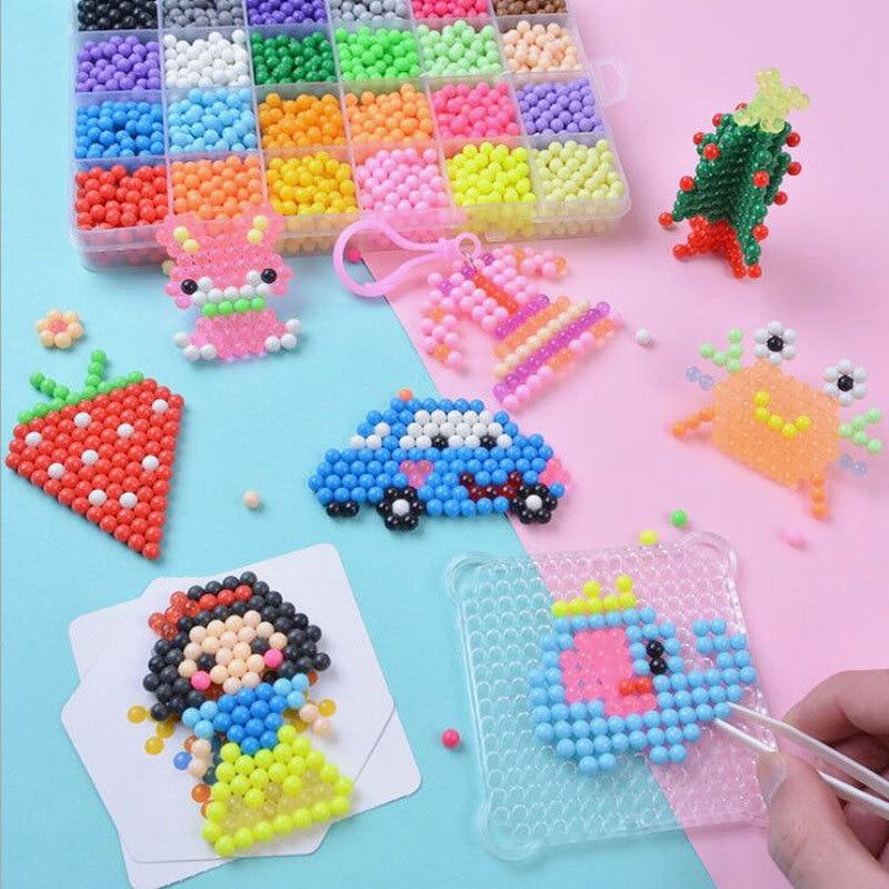 Children Water Mist Magic Beads Toy Water Stick Beads Bean Puzzle Magic Beads Water Soluble Beans DIY Material Box