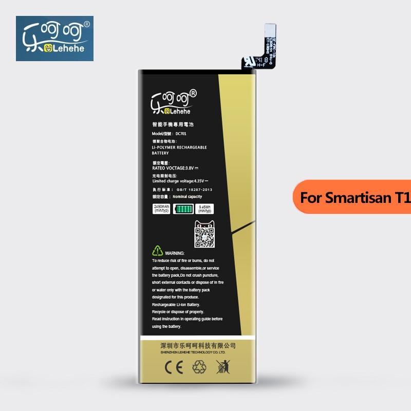 Оригинальный аккумулятор LEHEHE для Smartisan T1 SM701 SM705 DC701 2490 мАч высококачественные сменные батареи для смартфона с инструментом в подарок