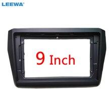 """LEEWA samochodowy sprzęt Audio 2Din konsola rama Adapter dla Suzuki Swift 9 """"duży ekran DVD Dash instalacja rama panelu zestaw # CA6327"""