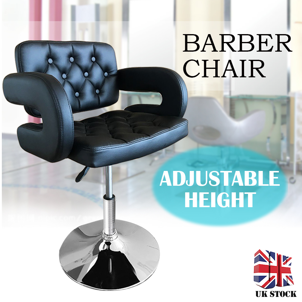 New Barber Chair Lifting Handle Hair Salon Chairs Black White Quilted Leather Luxury Hairdressing Chair Barbershop Furniture