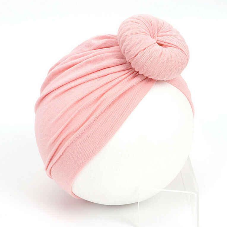 11 ألوان طفل طفلة قبعات القطن الصلبة لينة واسعة عقال طفل عمامة الصلبة رباط شعر اكسسوارات