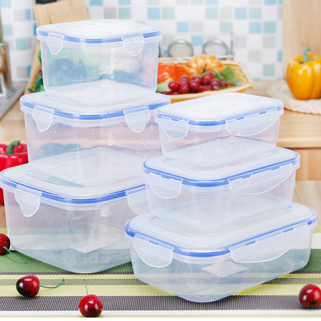 500/1100/2200ml Plastic Bento Box  Outdoor Picnic Snack Meal Storage Container Food Prep Lunch Box for Kids School Dinnerware Se