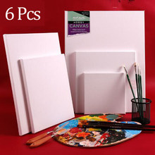Cadre en bois de coton pour peinture à l'huile sur toile, blanc, acrylique, pour artisanat, fournitures d'art, 6 pièces
