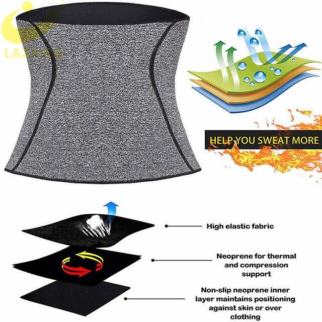 LAZAWG Hot Sweat Belt Wiast Cincher Strap Waist Trainer Thermo Neoperne Seamless Workout Girdle  Tummy Control Underwear Shaper 4