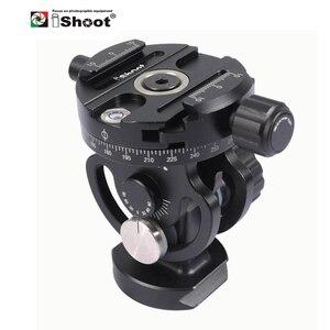 Image 1 - IShoot – tête de boule panoramique 2D 360, pour appareil photo, trépied, monopode, plaque à dégagement rapide, 2 voies