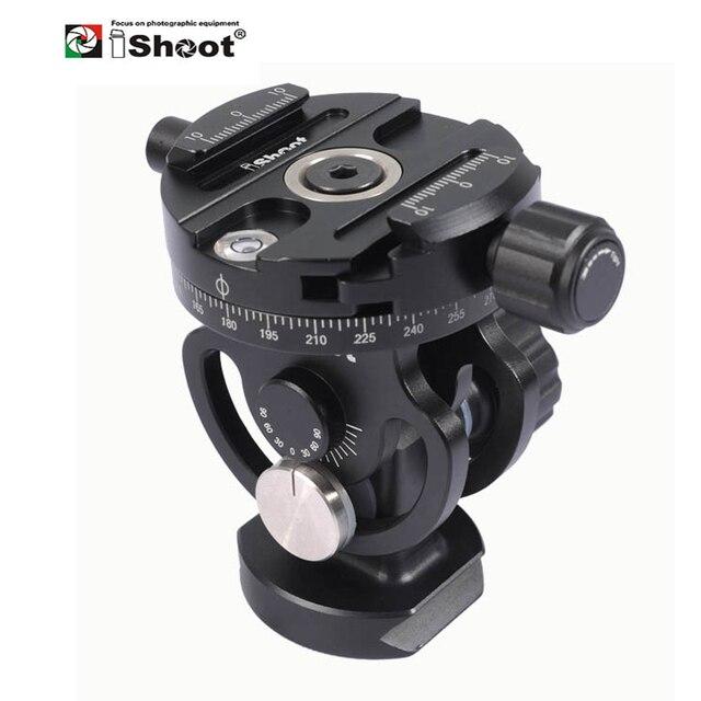 IShoot – tête de boule panoramique 2D 360, pour appareil photo, trépied, monopode, plaque à dégagement rapide, 2 voies