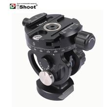 iShoot 2D 360 Panoramic Panorama Ball Head for Camera Tripod Monopod Ballhead Quick Release Plate Monpod Head 2 way