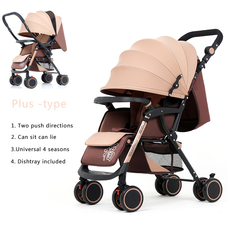 Bluechildhood Light Weight Baby Stroller Two-Way Push Travelling Pram For Baby Newborn carriages EU Free Shipping