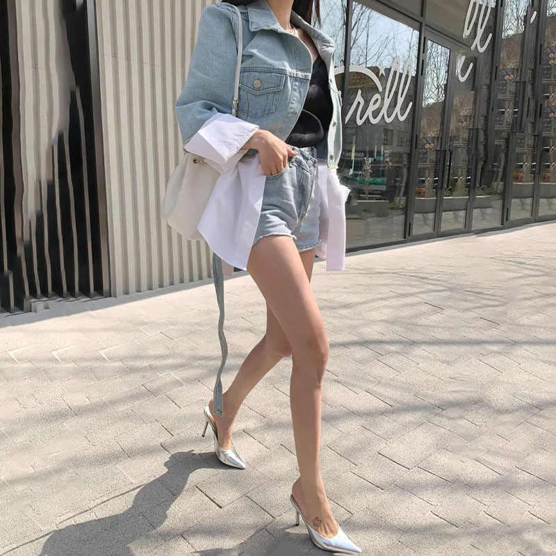 2020 herbst frauen Denim Jacken Patchwork Schärpen Lace Up Oberbekleidung Weiblichen Koreanischen Mode Jeans Mantel Damen Jacke