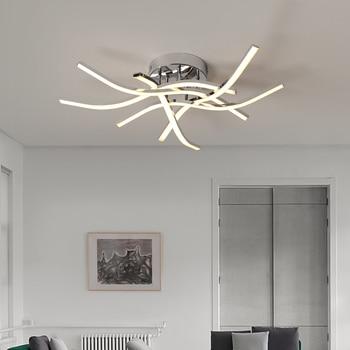 Chrome plating Modern led ceiling lights for living room dining bedroom kitchen Ceiling lighting Fixture