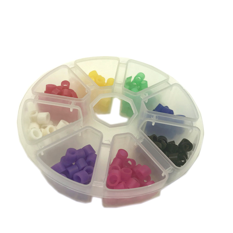 160 Pcs/box Dental Code Rings Standard Color Recognition Colorful Rings Soft Silicone Fit All Hand Instruments Dentist Materials