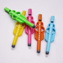 Маленький случайный цвет дома милый подарок пластиковые дети портативный музыкальный раннее образование флейта игрушка