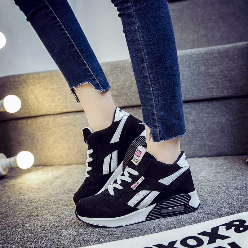 Classic High Top Women Sneakers Autumn Fashion Casual Shoes Woman Lace Up Cow Leather Trainers Ladies XU111