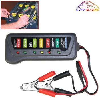 Car Battery Tester Alternator Analyzer Car-Styling Detector Tester Battery Status Handy Examiner For Car image