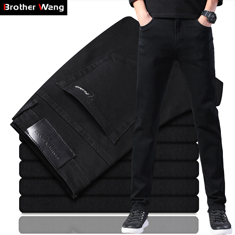 Classic Style Men's Black Slim Jeans 2020 New Business Fashion Stretch Denim Skinny Jean Trousers Male Brand Pants