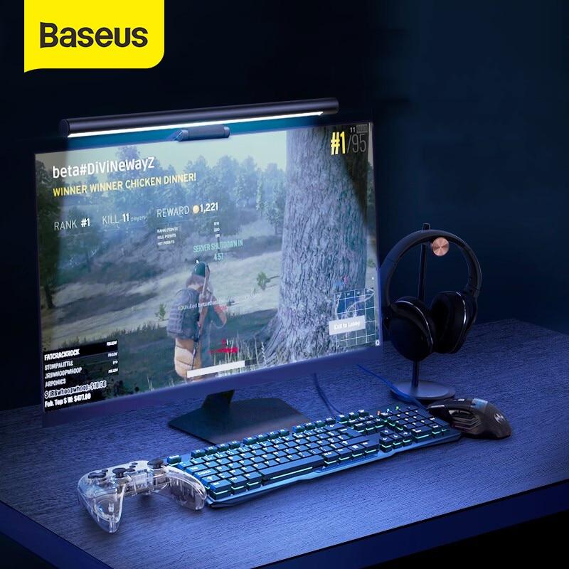 Baseus stepless escurecimento olho-cuidado led lâmpada de mesa para computador monitor de tela pendurado luz pro led leitura usb alimentado lâmpada