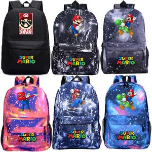 Travel Rucksack Backpack Book-Bags Teenagers Back-To-School-Gift Super-Mario Students