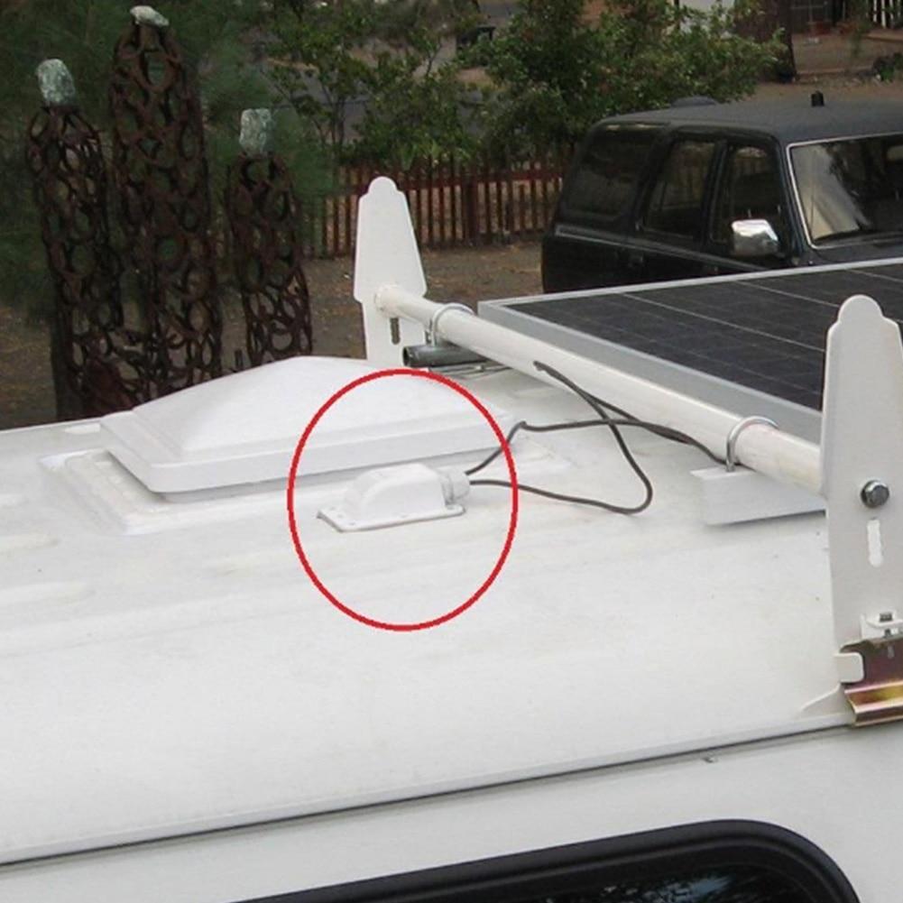 Spoiler Plate Motorhomes Roof Entry Waterproof Single Hole Panel Solar Panels Boats UV Resistant Caravans Cable Gland Mount