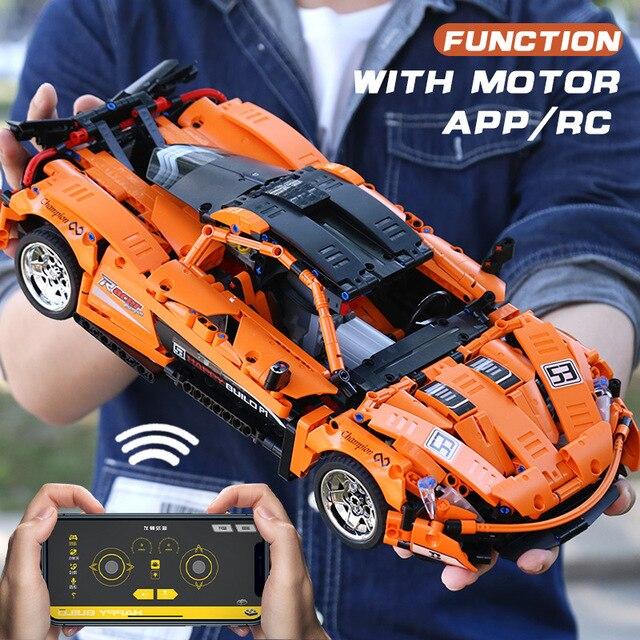 Moc Technic Serie Mclaren P1 Oranje Racing Auto App Rc Model Building Lepinbricks 20087 Power Motor Functie Onderwijs Speelgoed