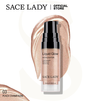 SACE LADY Liquid Highlighter Illuminator Makeup Bronzer Glow Face Contour Shimmer Highlight Glitter Cosmetics Wholesale недорого