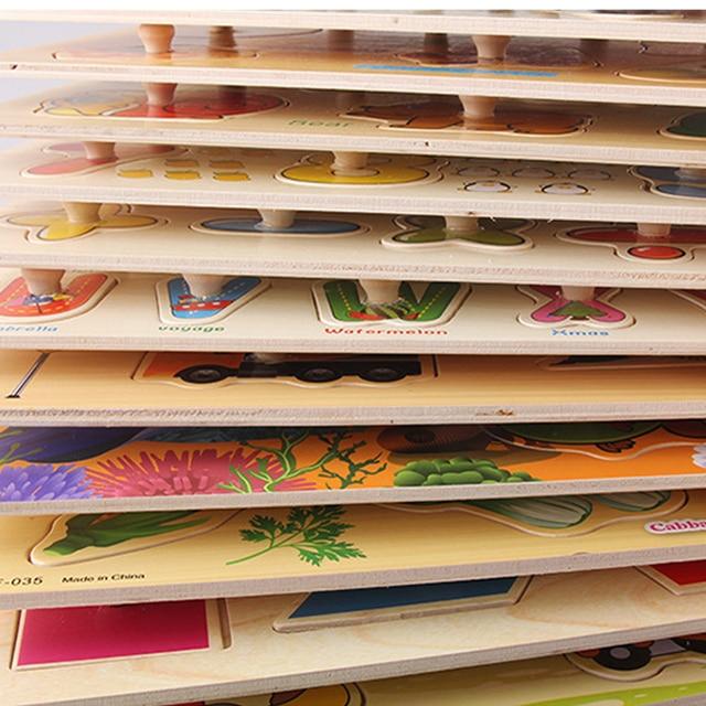 Tout-petits Montessori en bois forme géométrique doigts panneau forme couleur trieurs Match Puzzles jouet enfants début éducation maternelle