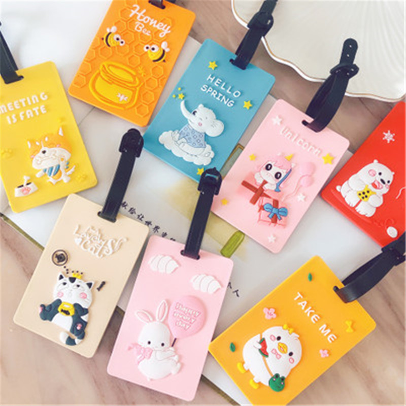 Travel Accessories Creative Baggage Boarding Tags New Fashion Suitcase Animal Luggage Tags ID Address Hot Sale Free Shipping