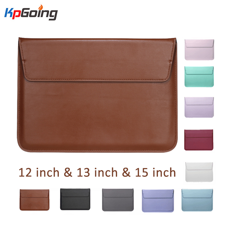PU Leather Laptop Sleeve Notebook Bag Pouch Case For Macbook Air 11 13 12 15 Pro 13.3 15.4 Retina Unisex Sleeve Envelope Fundas