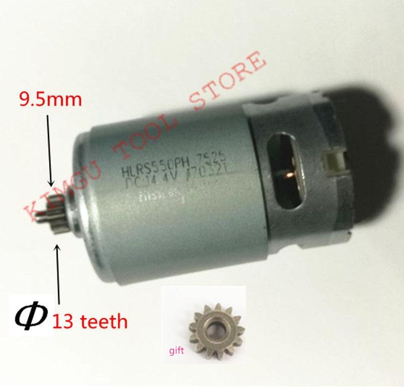 13Teeth 13 Teeth Motor 14.4V Replace For BOSCH GSR14.4-2-LI  PSR 14,4 Li-2 PSR14.4LI-2 PSR1440LI-2 GSR 14,4-2-li Drill Engine