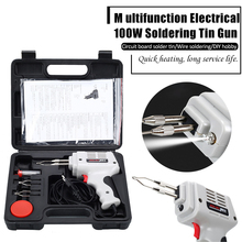 100W Electrical Soldering Iron Gun Rework Station Desoldering Pump Welding Tool Dropship Fast Electric Welding Tool