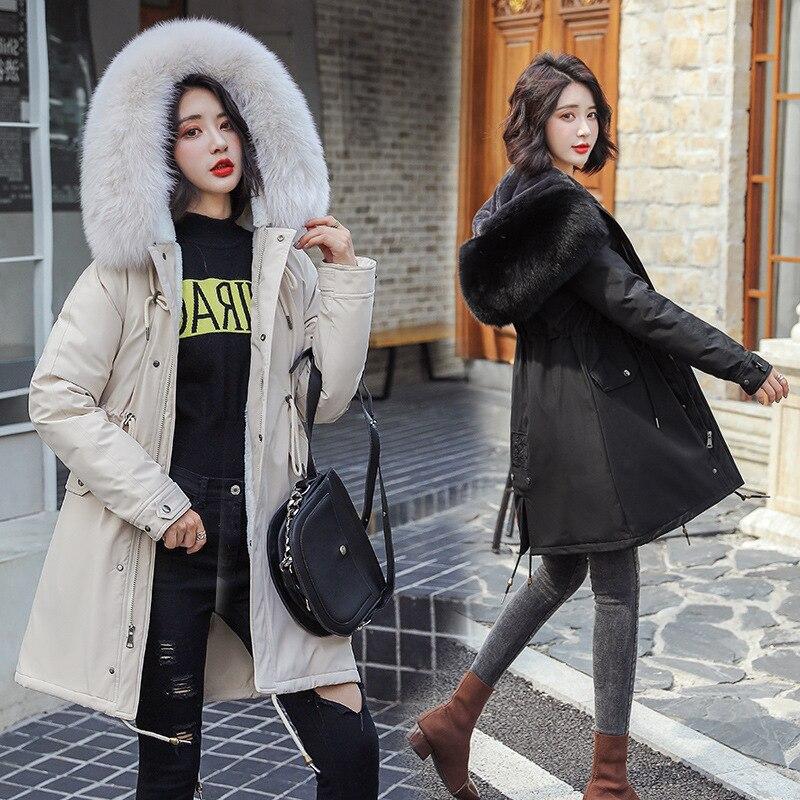 Зимняя женская куртка, плюс размер, S-3XL, хлопок, мех, с капюшоном, пуховик, женская, синяя, Женская парка, пальто, женская куртка, верхняя одежд...