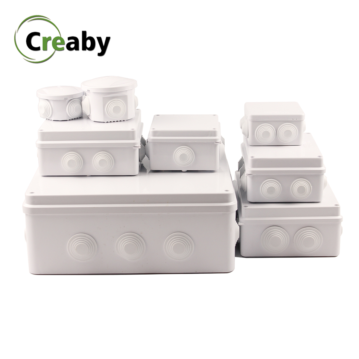 Wholesale IP65 IP66 ABS Plastic Waterproof Junction Box DIY Outdoor Electrical Connection Box Cable Branch Box Multiple Sizes