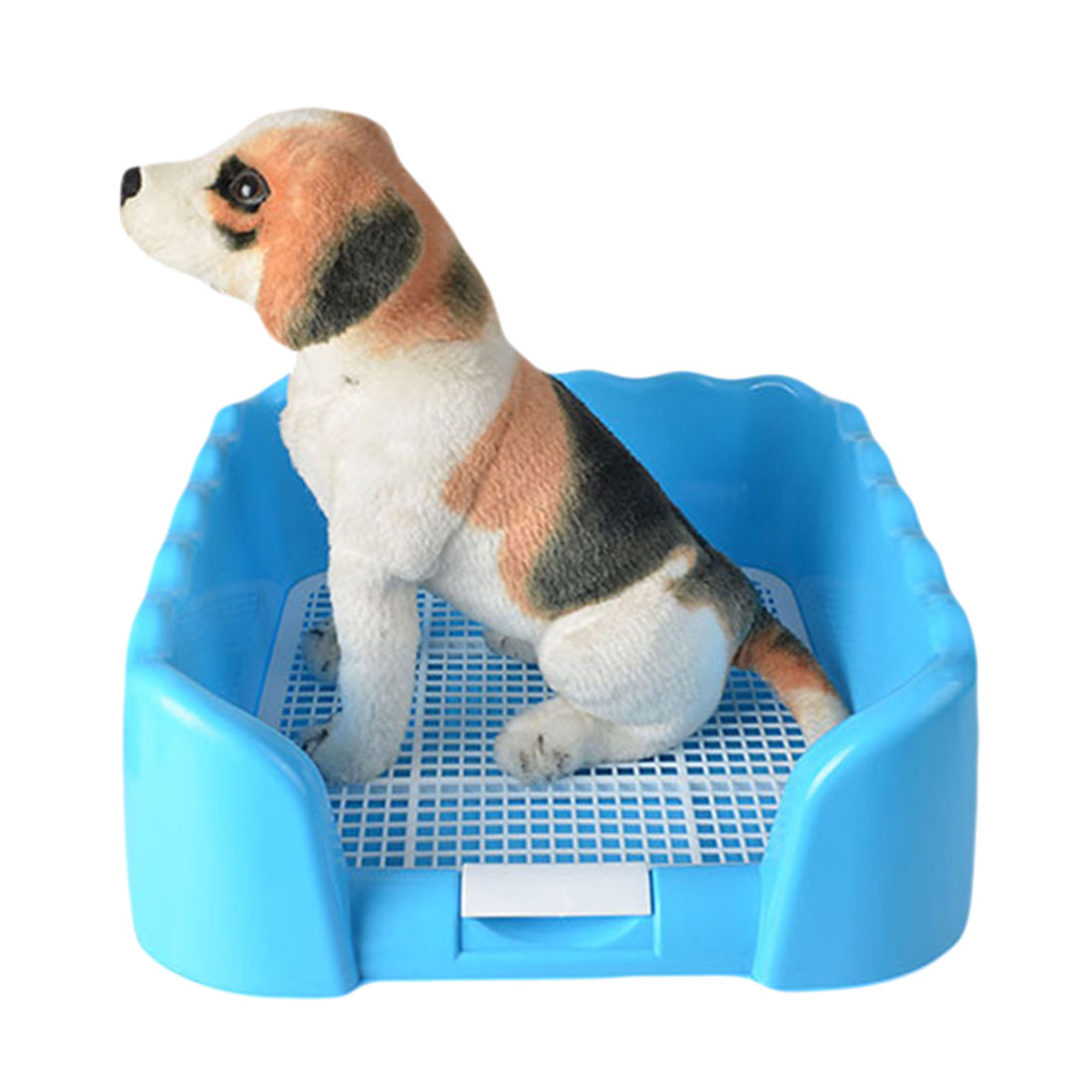Portable Puppy Training Tray with Fence for Pet Dogs and Cats Potty and Pee Training Indoor 15