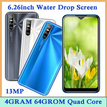 Smartfony 9c 4GB RAM 64GB ROM Android ekran kropla wody 6.26 cala twarz odblokowany czterordzeniowy telefon komórkowy 13MP tanie Celulares