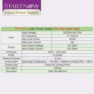 Image 5 - Startnow fuente de alimentación láser DY13, 90W, 120W, CO2, para RECI W2, T2, V2, W4, T1, T4, 90W, tubo láser de 100W, piezas de máquina de corte láser HY DY13