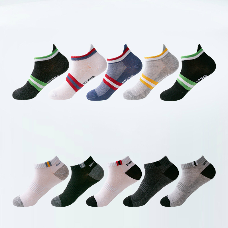 5 Pairs Summer Breathable Non-slip Mesh Ladies Socks 10 Color Sports Ankle Socks Summer Cool And Comfortable Sports Woman Socks