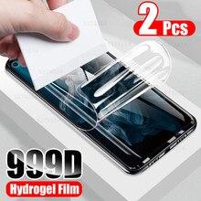 2Pcs Volle abdeckung screen protector für huawei honor 20 Pro 30 10 9 lite hydrogel film p smart 2018 2019 p30 p40 lite y6 y7 y9 pro