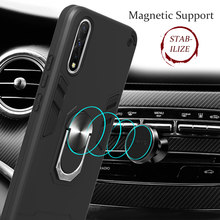 Armor Shockproof Case for VIVO V11 V15 V17 S1 S5 Y91 Y91C Y83 pro y17 y53 y81 Z5X X21 Y19 phone case Car Ring Magnetism Holder(China)
