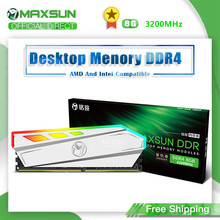 MAXSUN RGB Lighting RAM ddr4 8GB 3200MHz Interface 288Pin Memory Voltage 1.2V Lifetime warranty memoria RAM ddr4 Original Rams