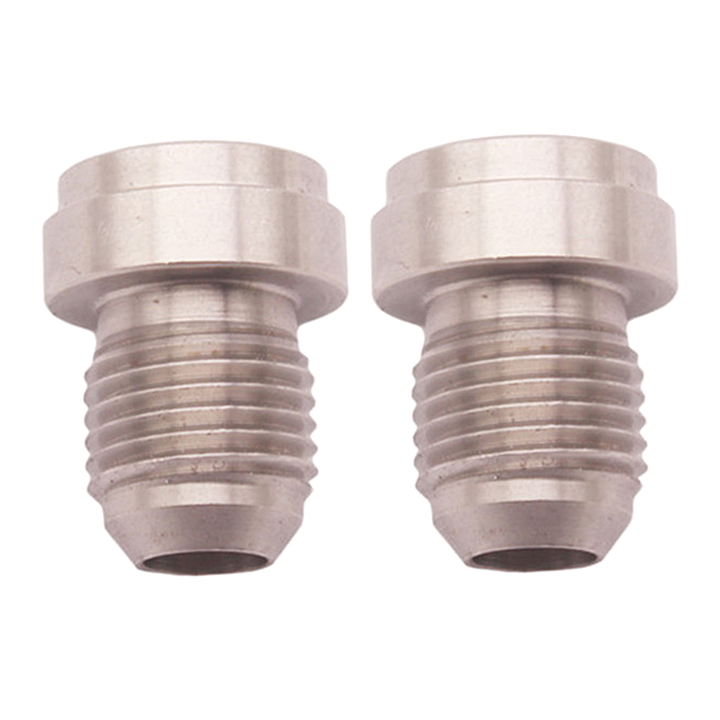 2 Pieces 6AN, AN6 MALE STAINLESS STEEL WELD ON / WELD IN FITTING BUNG