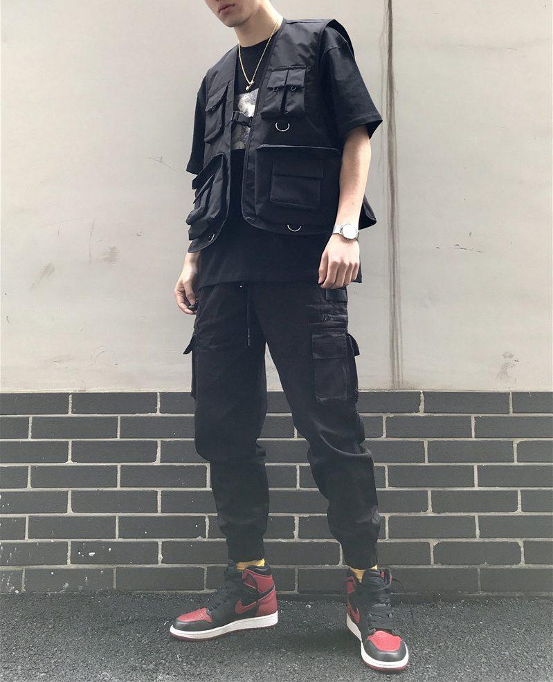 2019 Military Multiple Pockets Cargo Vest Hip Hop Vest Men Dad Core Vest Sleeveless Jacket Gilet Men's Vest Streetwear