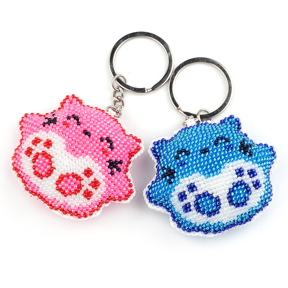 6.6cm DIY Beads Toys Handmade Embroidered Angel Wings Cross-stitch Keychain Handicrafts Toy Kit Kids Adult Girl Gift 2019 NEW