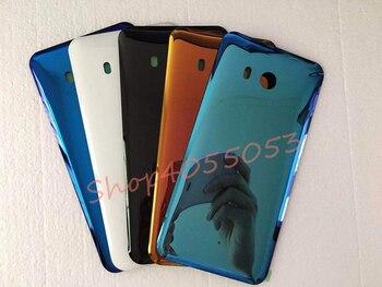 Nowy wysokiej jakości tylny panel szkło tylna pokrywa baterii do HTC U11 pokrywa baterii szkło z naklejki