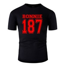 Design Crazy Bonnie 187 Crime Strasse Clyde Rot Mafia T-Shirt Man 2020 Classic T Shirt For Men Clothing Plus Size S-5xl Top Tee(China)