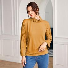 SUNGIFT New Women's Turtleneck Solid Color Shirt W