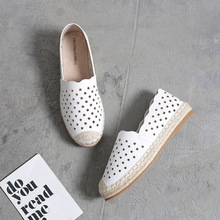 Hollow Out Espadrille Women's Shoes Summer Slip-On Solid Flats Shoes Woman Shallow Sports Footwear Casual Loafers Shoe For Women цена 2017