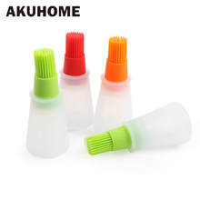 Oil-Brush Bbq-Oil-Container Cooking-Tools Heat-Resistant Kitchen Silicone Bottle Baking