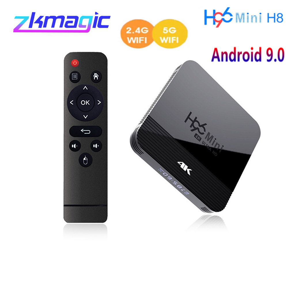 H96 MINI H8 Android 9.0 Smart TV BOX 2GB 16GB double Wifi 2.4/5.0G BT4.0 lecteur multimédia Youtube Google Play H96MINI H8 décodeur   AliExpress